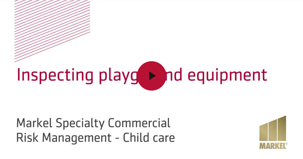 Markel's risk management video - Inspecting playground equipment