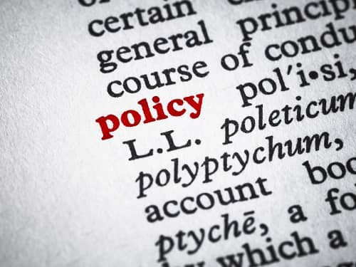 Policy dictionary