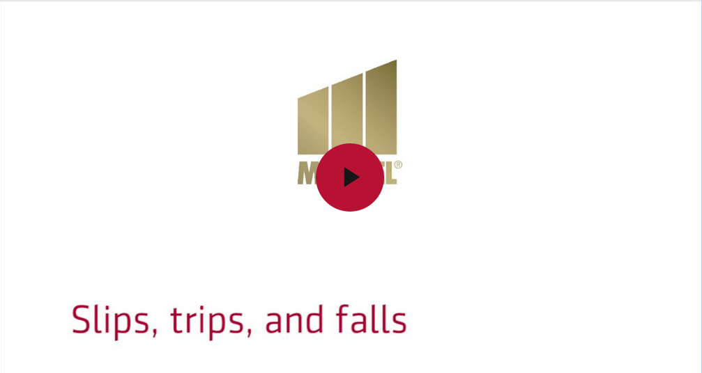 Markel's risk management video - Slips, trips, and falls