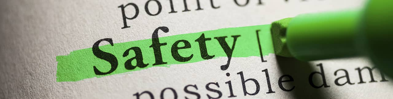The definition of safety highlighted