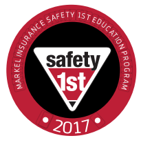Markel's Safety 1st decal 2017