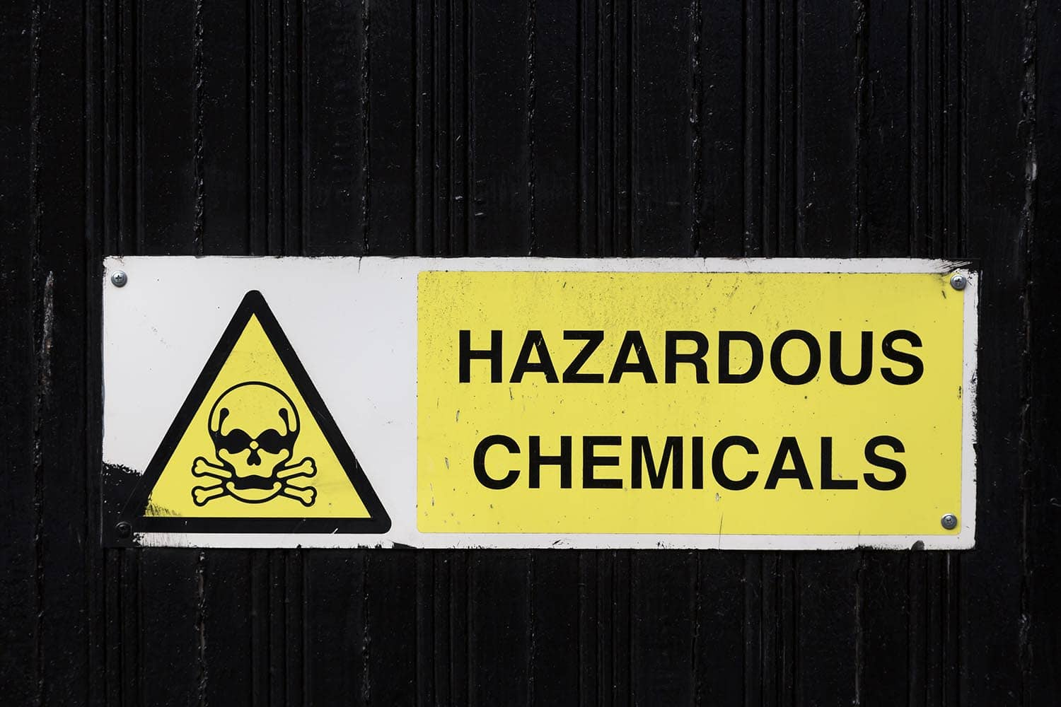 Warning for chemicals