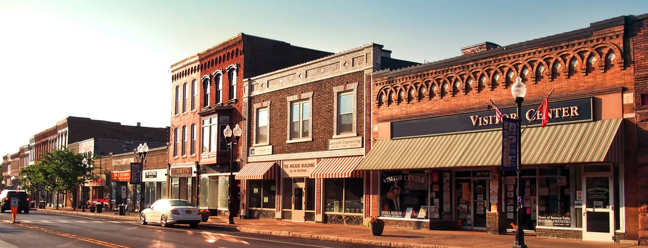 Small town store fronts