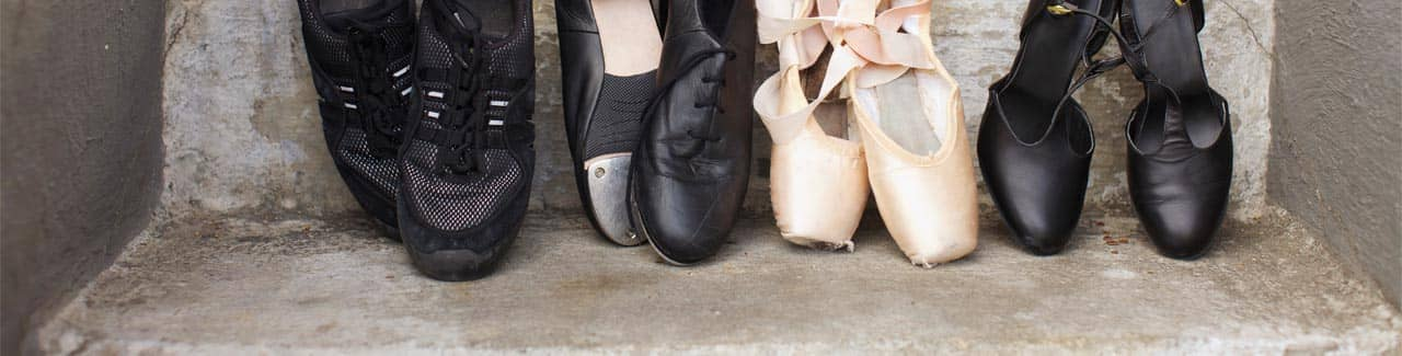 Close-up of dance shoes